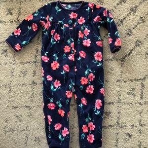 Baby girl fleece onesie